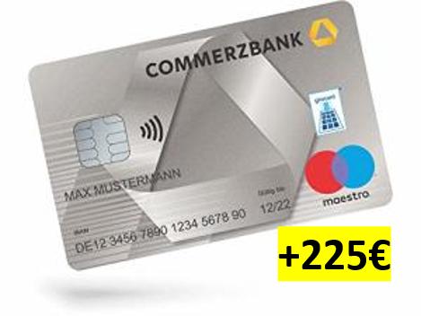 Commerzbank direkt: Girokonto & Kreditkarte kostenlos, 125€ Prämie + 100€ Kunden werben Kunden