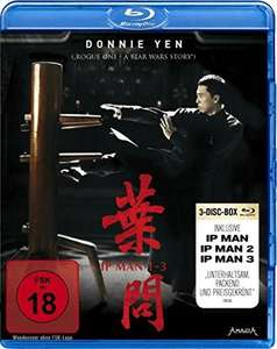 Ip Man 1-3 (Blu-ray) & Ong Bak Trilogy 3-Disc Uncut Edition (Blu-ray) für je 5€ (Media Markt)
