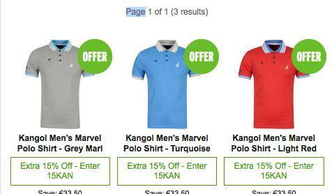 Kangol Men's Marvel Polo Shirt