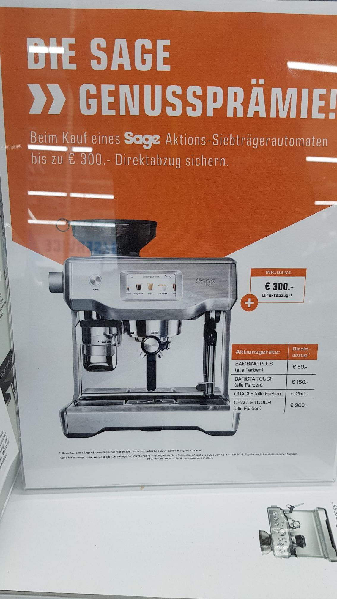 Sage The Barista Touch mit 150 € Direktabzug