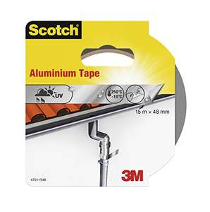 1 Rolle Alu Highspeed Tape: Scotch® Aluminium-Klebeband (48 mm x 15 m) silber