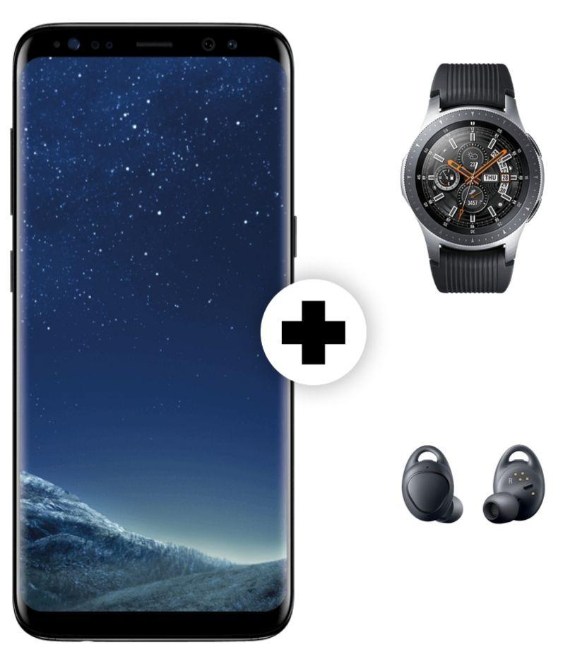 Samsung Galaxy S8 und Watch 46mm BT und Kopfhörer IconX im MD Vodafone (1 GB LTE, Allnet-Flat) für mtl. 21,99€