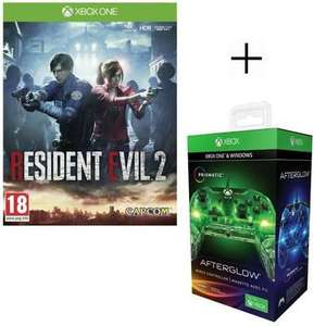 Resident Evil 2 (Xbox One) + PDP Xbox One/PC Afterglow Prismatic Wired Controller (Cdiscount)