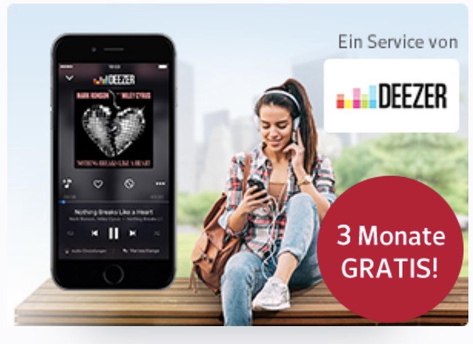 Gratis Musik-Streaming mit DEEZER für 3 Monate kostenlos testen (web.de)