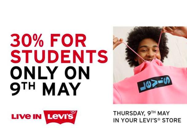 [Studierende] 30% Rabatt bei Levis (nur im Laden)