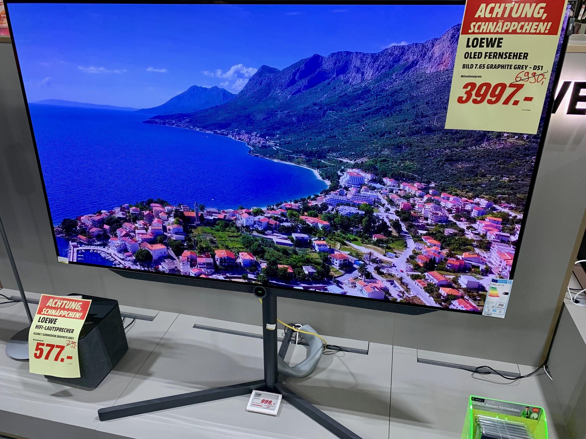 Loewe Fernsehr Bild 7.65 (Media Markt Donauwörth)