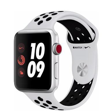 Apple Watch Series 3 Nike+ (42mm) GPS + Cellular mit Nike Sportarmband silber/pure platinum/schwarz