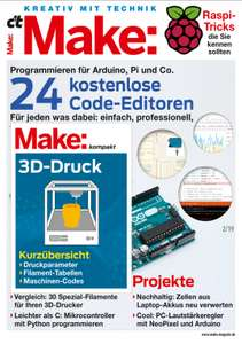 2 Ausgaben des Make Magazins sowie den Raspberry Pi Zero WH portofrei direkt ins Haus - für einmalige 13,80 €