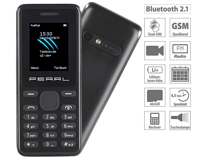 [PEARL] simvalley Mobile Dual-SIM-Handy SX-345 mit Kamera, Farbdisplay, Bluetooth, FM, vertragsfrei