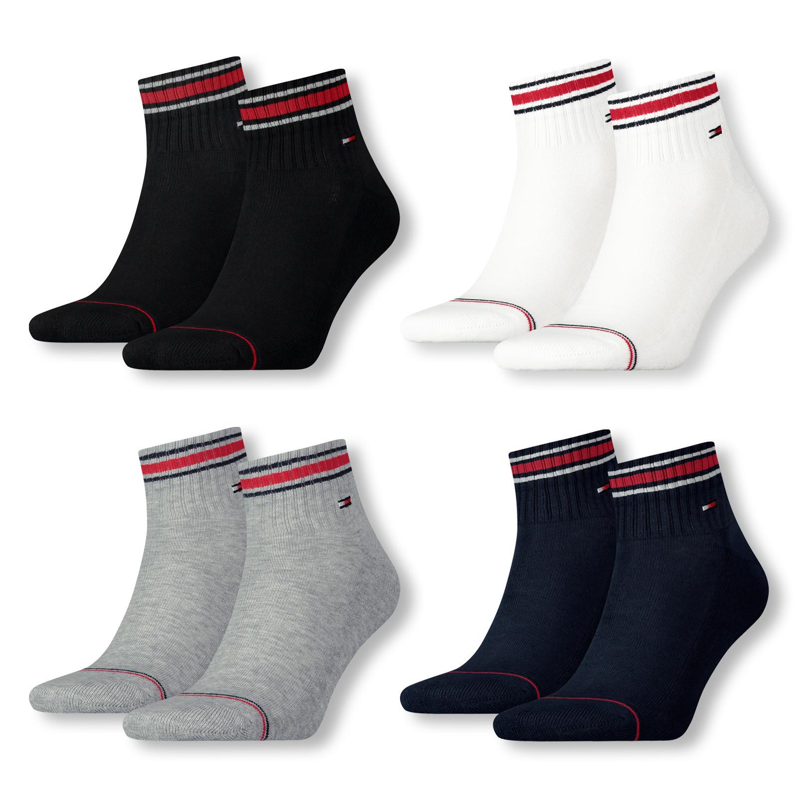 "8er Pack Tommy Hilfiger ""Iconic Socken"" Quarter oder Sneaker (Einzelpreis: 3,37€)"