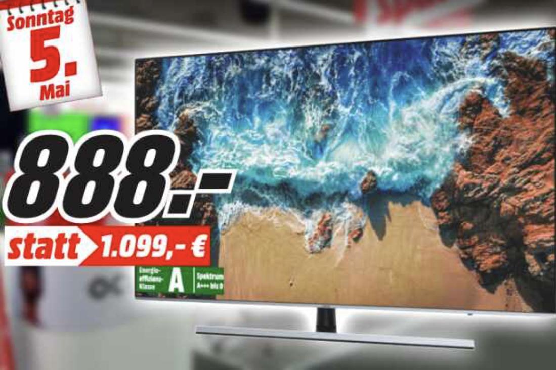 Am Sonntag: SAMSUNG UE65NU8009 163 cm 65 Zoll UHD 4K SMART TV für 888€, Nintendo Switch für 277€, JBL Charge 3 für 88€ [MediaMarkt Neuwied]