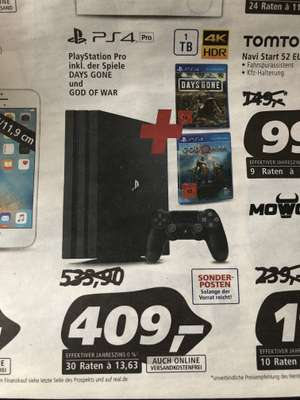 Bundesweit Real Ps4 Pro mit Days Gone + God of war