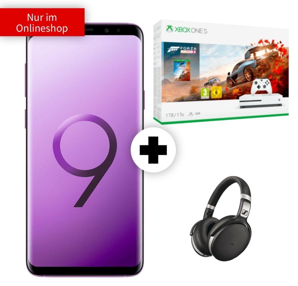 Galaxy S9+ | Kopfhörer Sennheiser HD 4.50 | Xbox One S mit Forza im O2 Free M Boost (20GB LTE, Connect) mtl. 34,99€ und 49€ einm.