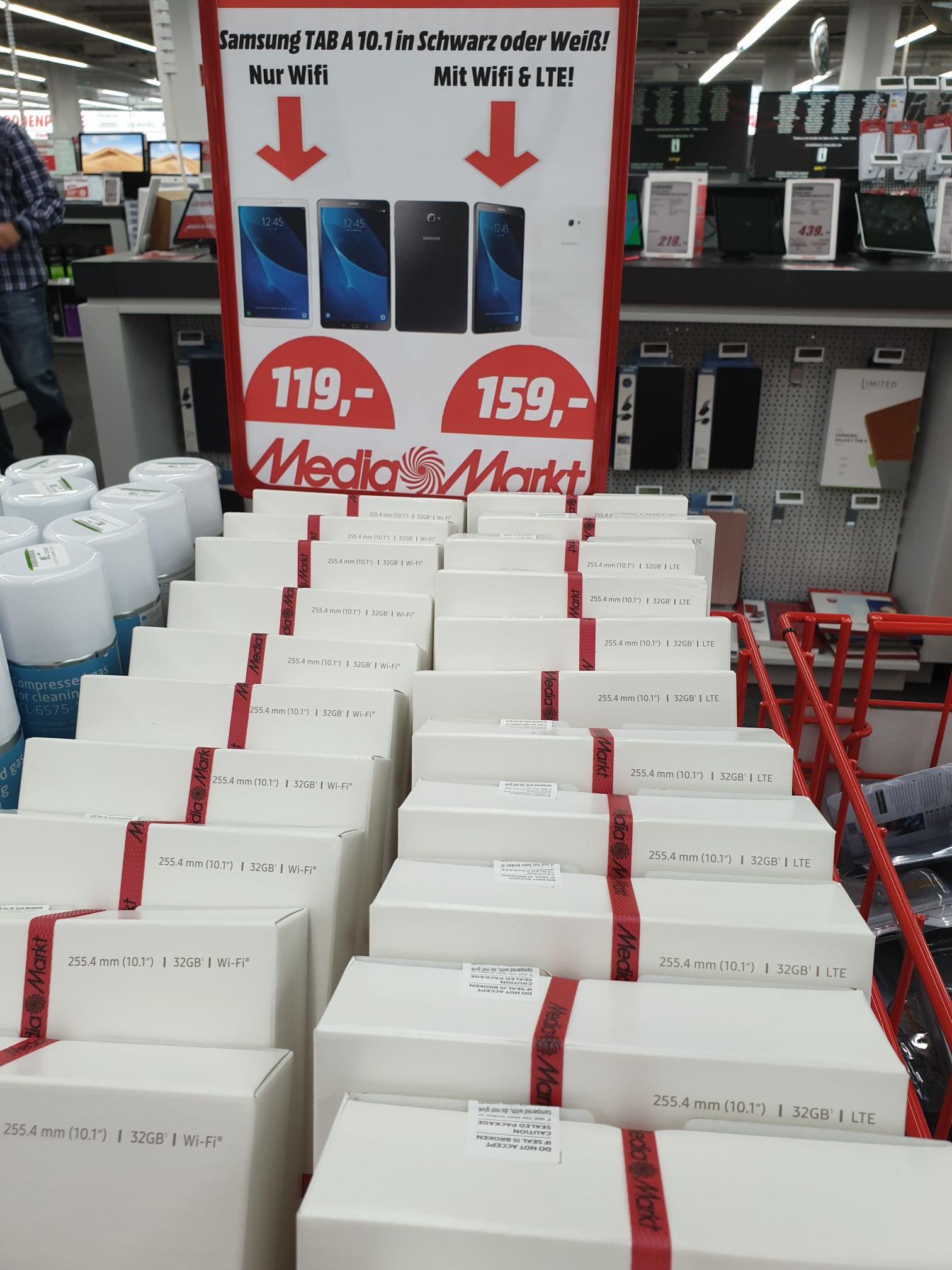 *Lokal (MediaMarkt Heidelberg) Samsung Tab A 10.1 für 119 bzw. 159 mit LTE!