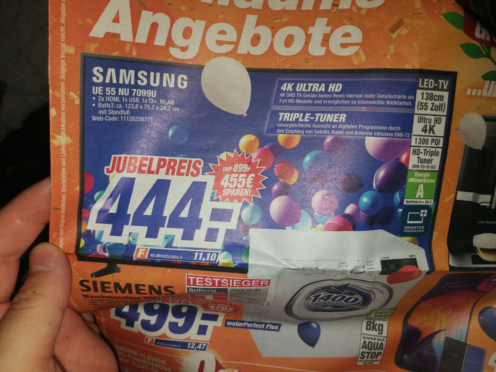 Samsung UE55NU7099 HDR 4k LED Media Markt