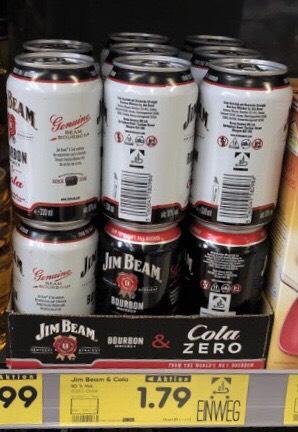 Jim Beam Cola und Jim Beam Cola Zero - Lokal 94491 - Netto ohne Hund