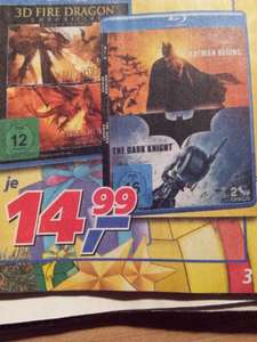 **Blu-ray Box** Batman Begins und The Dark Knight lokal im Real Regensburg für 14,99 €