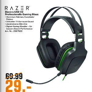 [Regional Saturn Münster ab 06.05] Razer Electra V2 Gaming Headset Schwarz [Over Ear, kabelgebunden, virtueller 7.1 Sound] für 29,-€