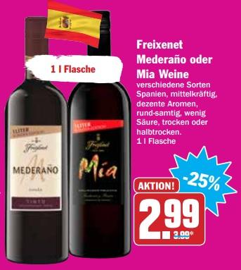 [HIT bundesweit 10.05 & 11.05] Freixenet Mia Tinto 1l Sonder-Edition für effektiv 1,99€ (Angebot+Cashback - 12x einlösbar)