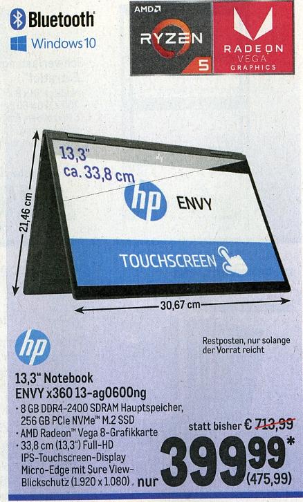 [Metro] - HP Envy X360 13 - Notebook
