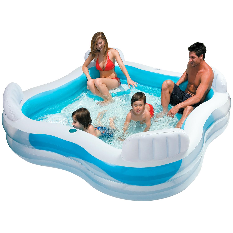 Intex Swim Center Family Lounge Pool 229 x 229 x 66 cm [Action ab 8.5.]