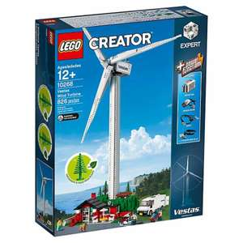 LEGO Creator Expert Vestas Windkraftanlage 10268, Ninjago Flugsegler 70618, Drachengrube 70655
