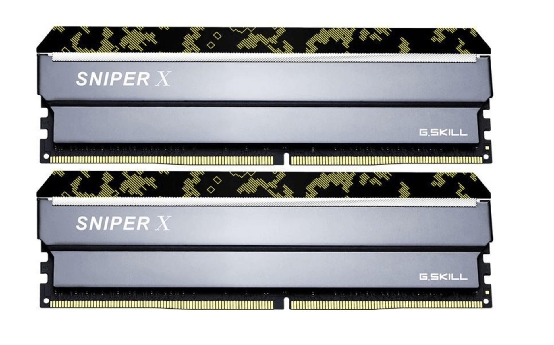 G.SKill SNIPER X 32GB Kit DDR4-3000 CL16 (F4-3000C16D-32GSXKB)