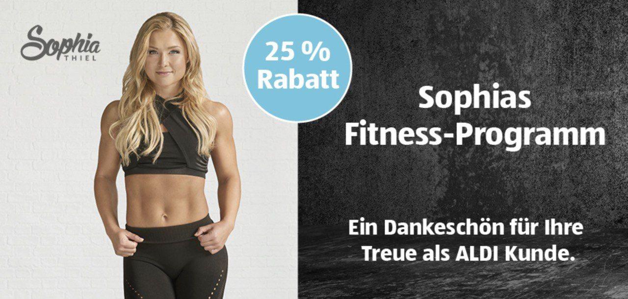 -25% Fitnessprogramm Sophia Thiel & Gymondo