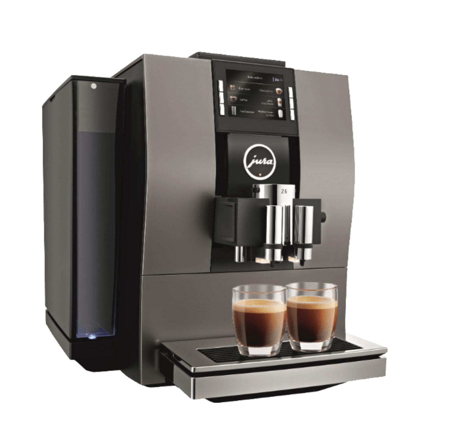 Jura Z6 Kaffeevollautomat schwarz (15 bar, Kegelmahlwerk, App-Steuerung, Farbdisplay) Lokal Nürnberg Fürth