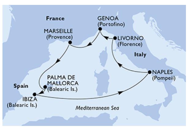 Mittelmeer Kreuzfahrt Last Minute Vollpension 2 Pers. Innenkabine, Abfahrtsdatum 26/05/2019 ab Marseille inkl. Ibiza mit der MSC Fantasia