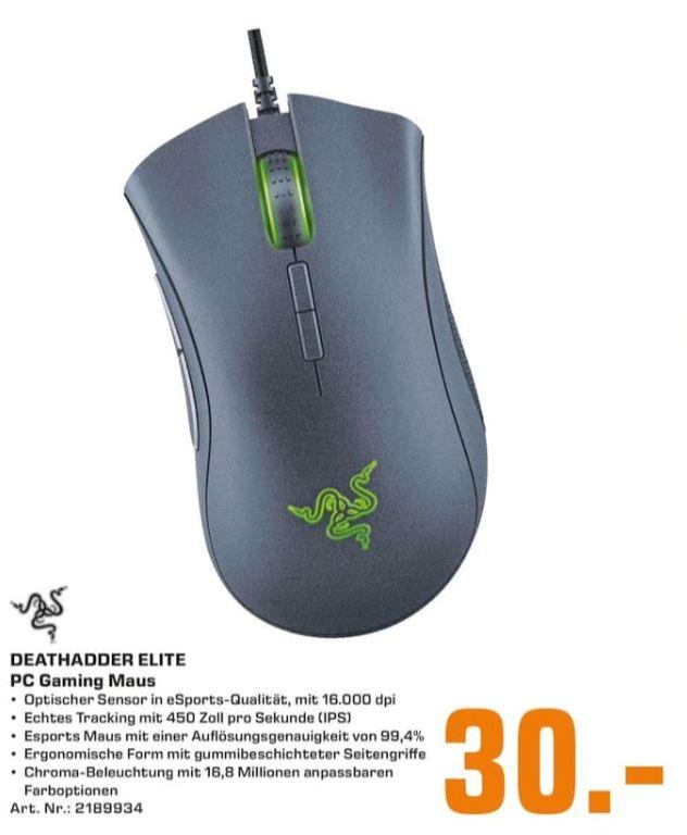 [Regional Saturn Berlin alle Märkte] RAZER Deathadder Elite Gaming Maus, kabelgebunden, Schwarz für 30,-€