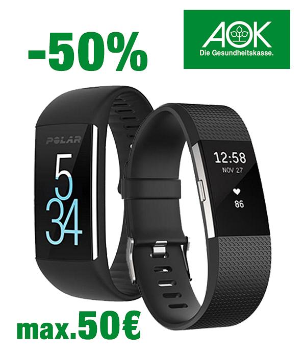 [Fitnessarmbänder] AOK Nordost übernimmt 50% der Kosten, bis zu 50 Euro.