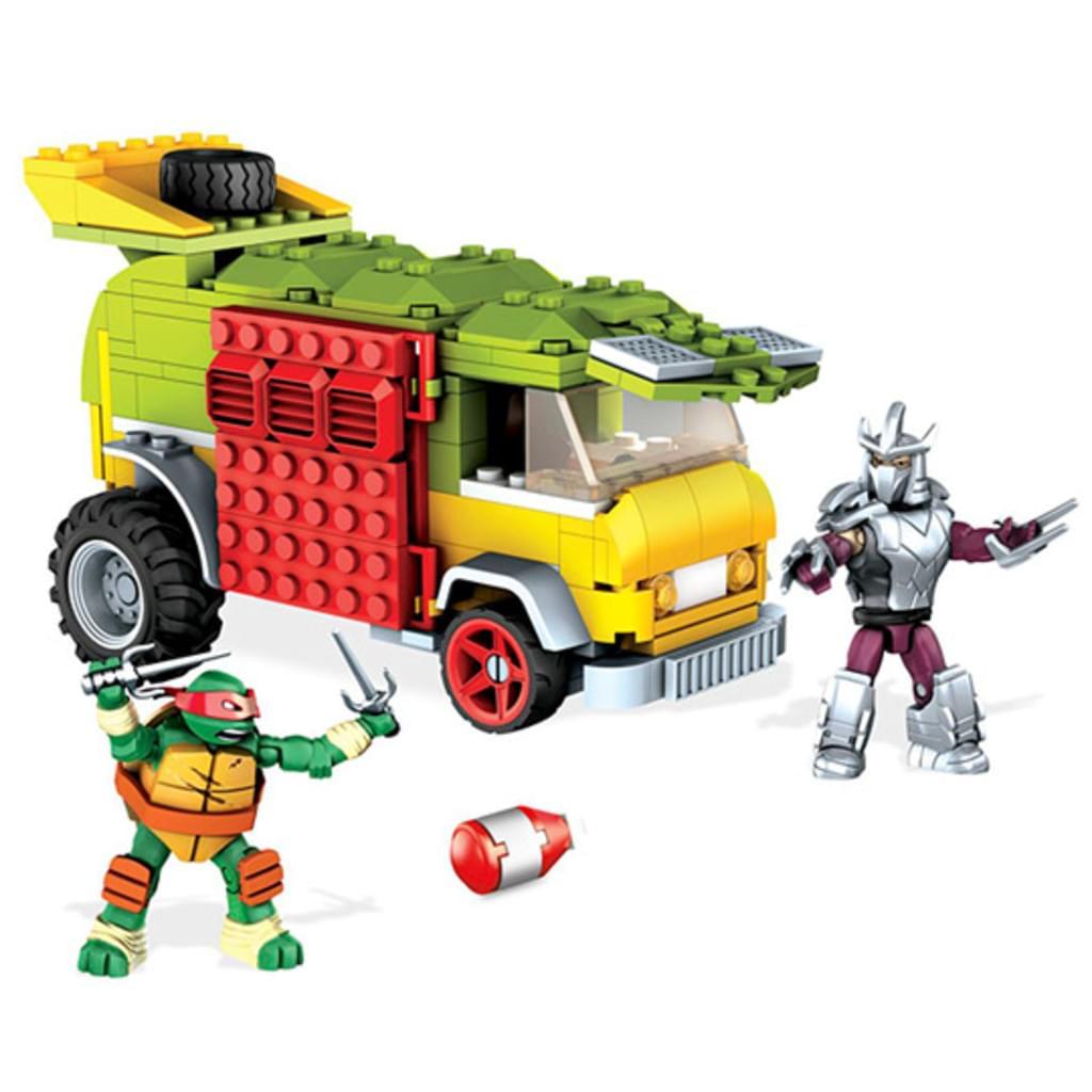 """MEGA BLOKS Mega Construx Baukasten """"Turtles Party Wagen DMX54"""" (mit 2 Spielfiguren) *versandkostenfrei* [Real.de]"""