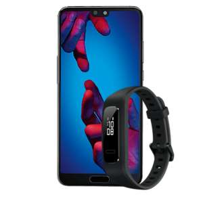 Huawei P20 inkl. Fitnessarmband 3e, 5gb LTE für monatl. 19,99€ - Curved/Blau.de