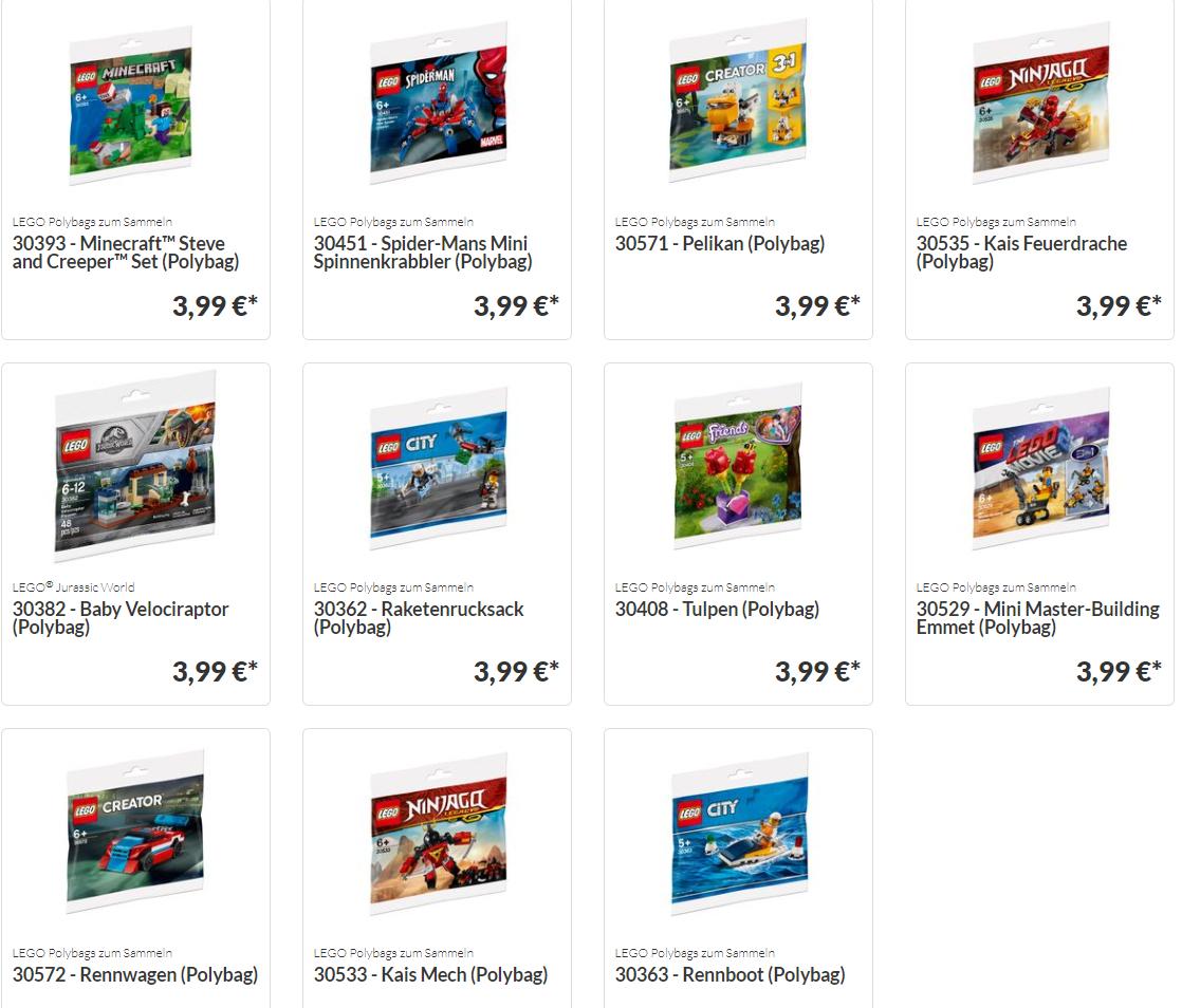 Lego 30451 Spider-Man (Polybag) für 4,99€ +10 andere möglich