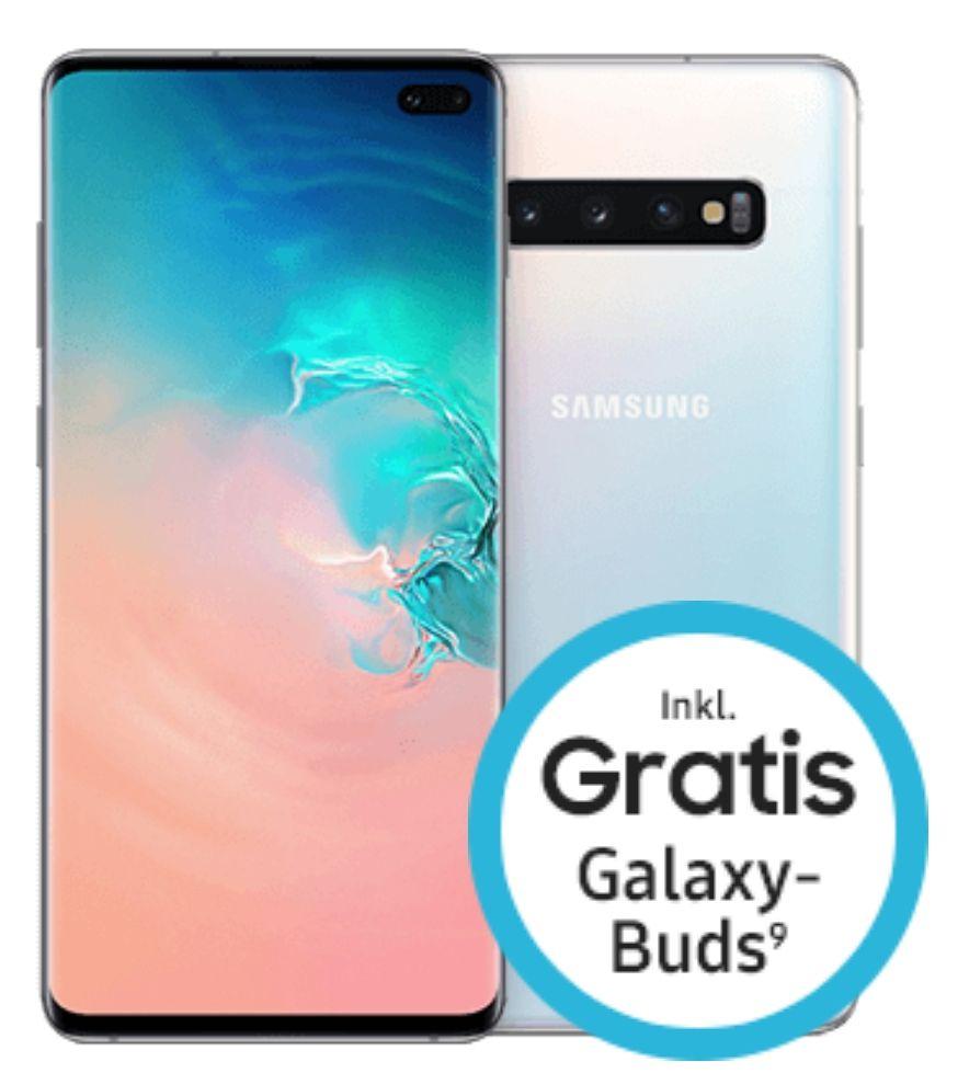Samsung Galaxy S10+ 128GB und Buds im Telekom Magenta M (max. 19GB LTE, Allnet/SMS) Young und MagentaEINS   oder O2 M Boost 1088,75€
