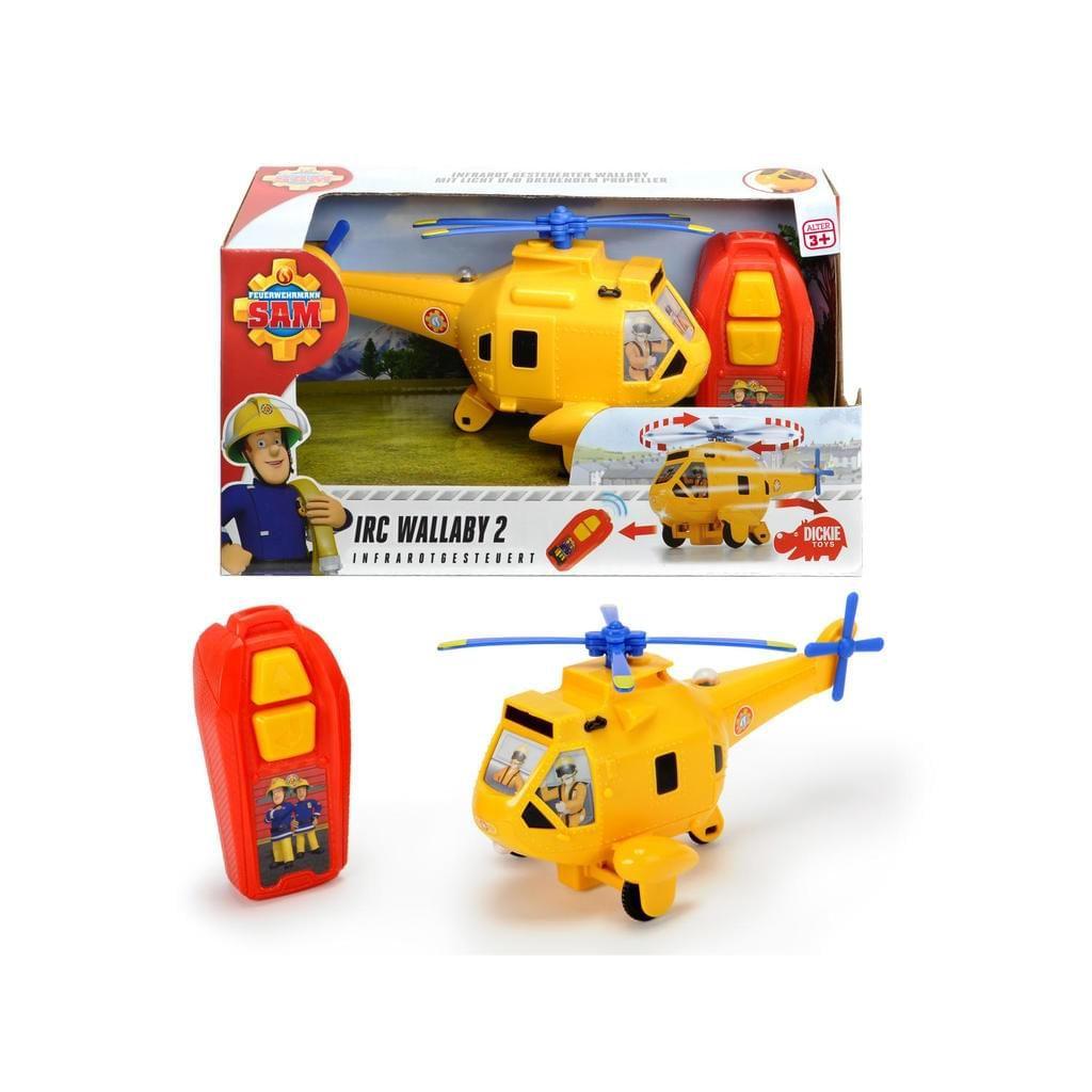 Dickie Toys Feuerwehrmann Sam IRC Wallaby 2 Helikopter