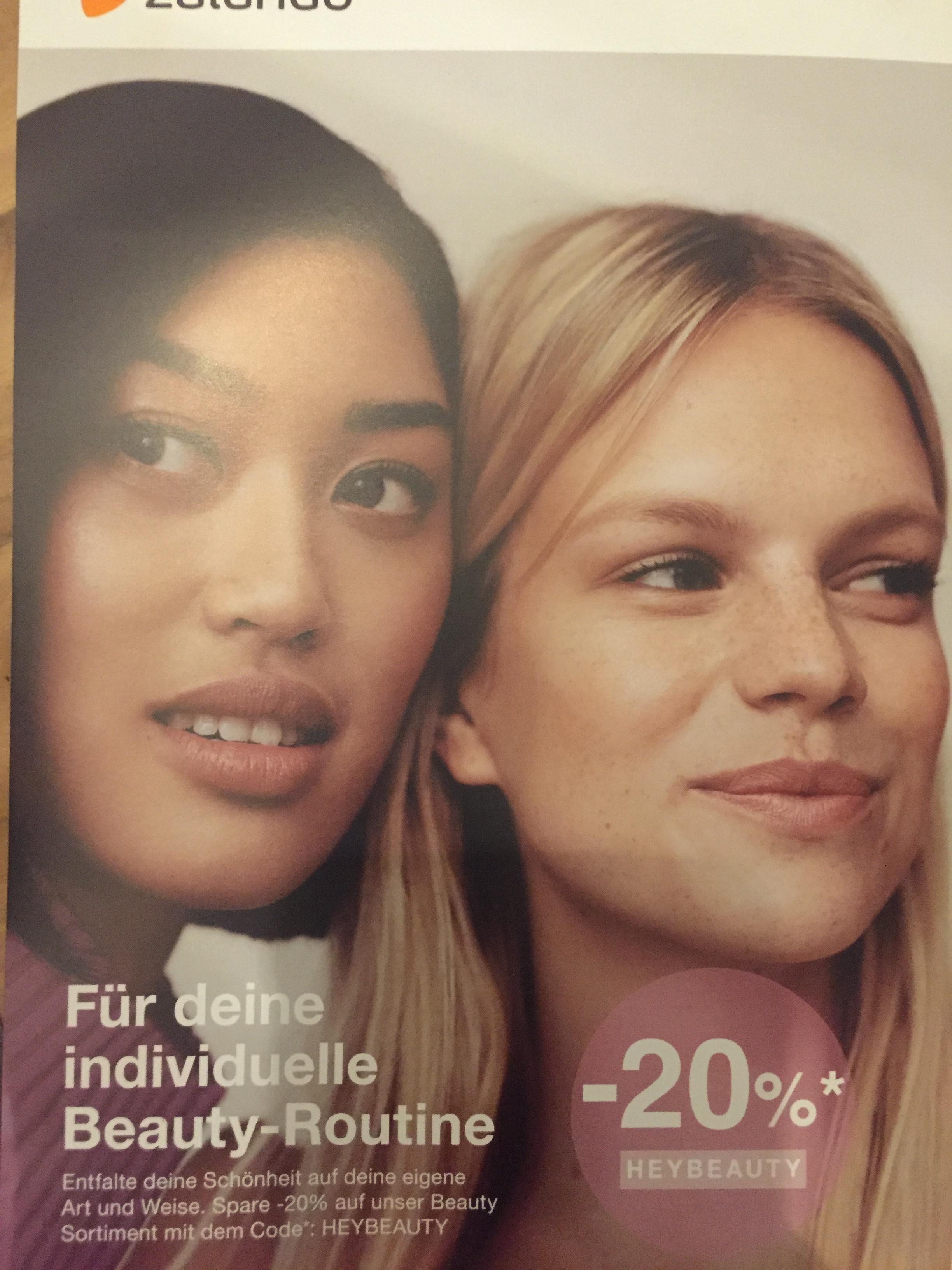 20% auf das Beauty-Sortiment bei Zalando