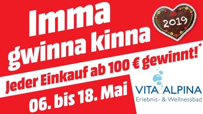 [lokal Traunstein / Traunreut ] Für mind. 100,01€ bei Media Markt kaufen und eine Freikarte für 3 Std im Vita Alpina Ruhpolding erhalten