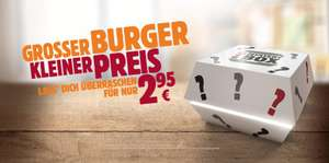 Mystery Box für 2,95€: z.B. Whopper, Double Whopper Cheese, Double Steakhouse etc.[Burger King]