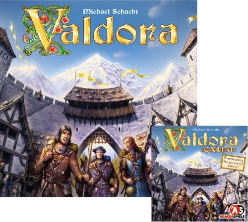 Valdora + Erweiterung Extra (Brettspiel, Gesellschaftsspiel)