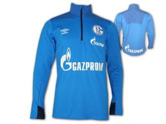 Umbro FC Schalke 04 Half Zip Training Top in hellblau und dunkelblau inkl. Versand in S-XXL