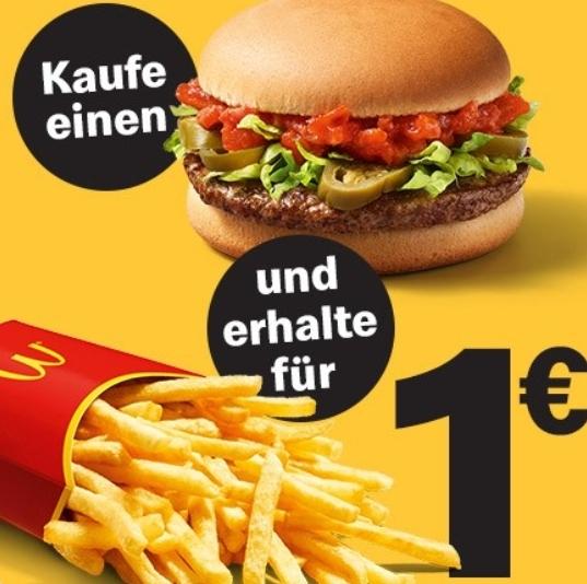 Hot Salsa Burger + mittlere Pommes für 2,99€ [McDonalds App]