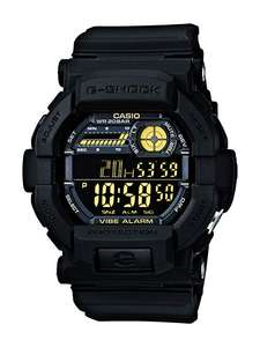 Amazon UK: Casio G-Shock GD-350-1BER, 20 bar, Weltzeit, Vibrationsalarm