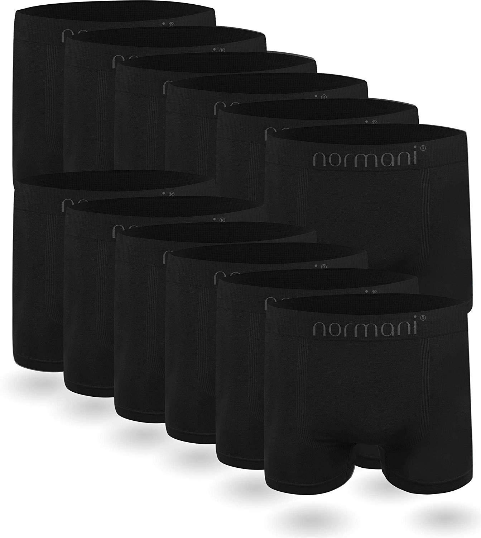 12x Mikrofaser Boxershorts für Männer aus Nylon in 18 Ausführungen unisex/gemischt (Stückpreis: 2,03€)