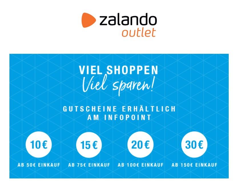 [Lokal] Zalando Outlet Berlin, Hamburg, Leipzig, FFM und Köln 10€, 15€, 20€ und 30€ Gutscheine