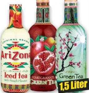 Arizona Iced Tea Eistee Teegetränk verschiedene Sorten XXL Buddel mit 1,5l (1l=0,93€)