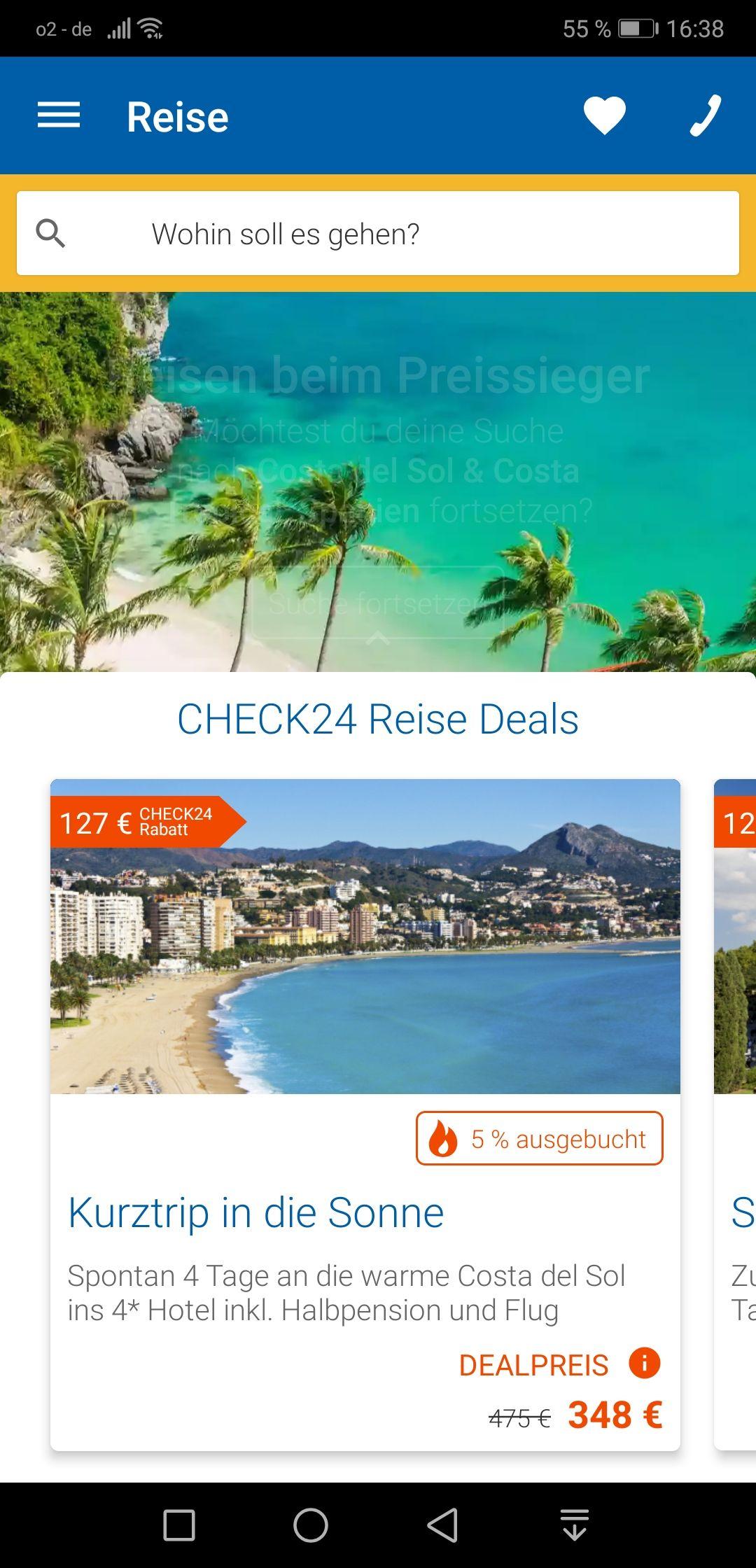 Check 24 Reisedeal Spanien 348 Euro für 4 Tage und 2 Personen inklusive Halbpension und Flug