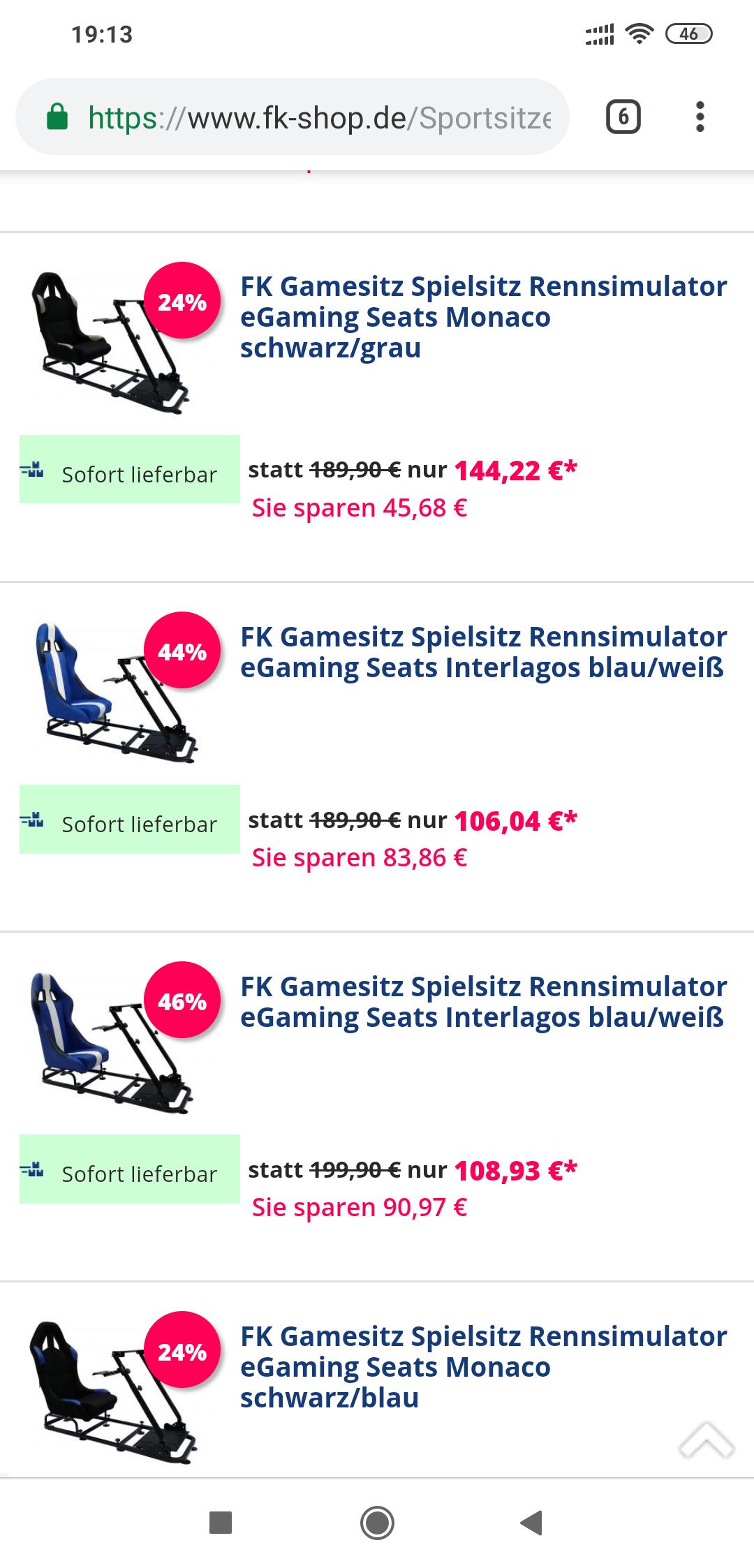 FK-Automotiv im Sale, Playseat, Racing rig, simulator, Schalensitz, Autoteile