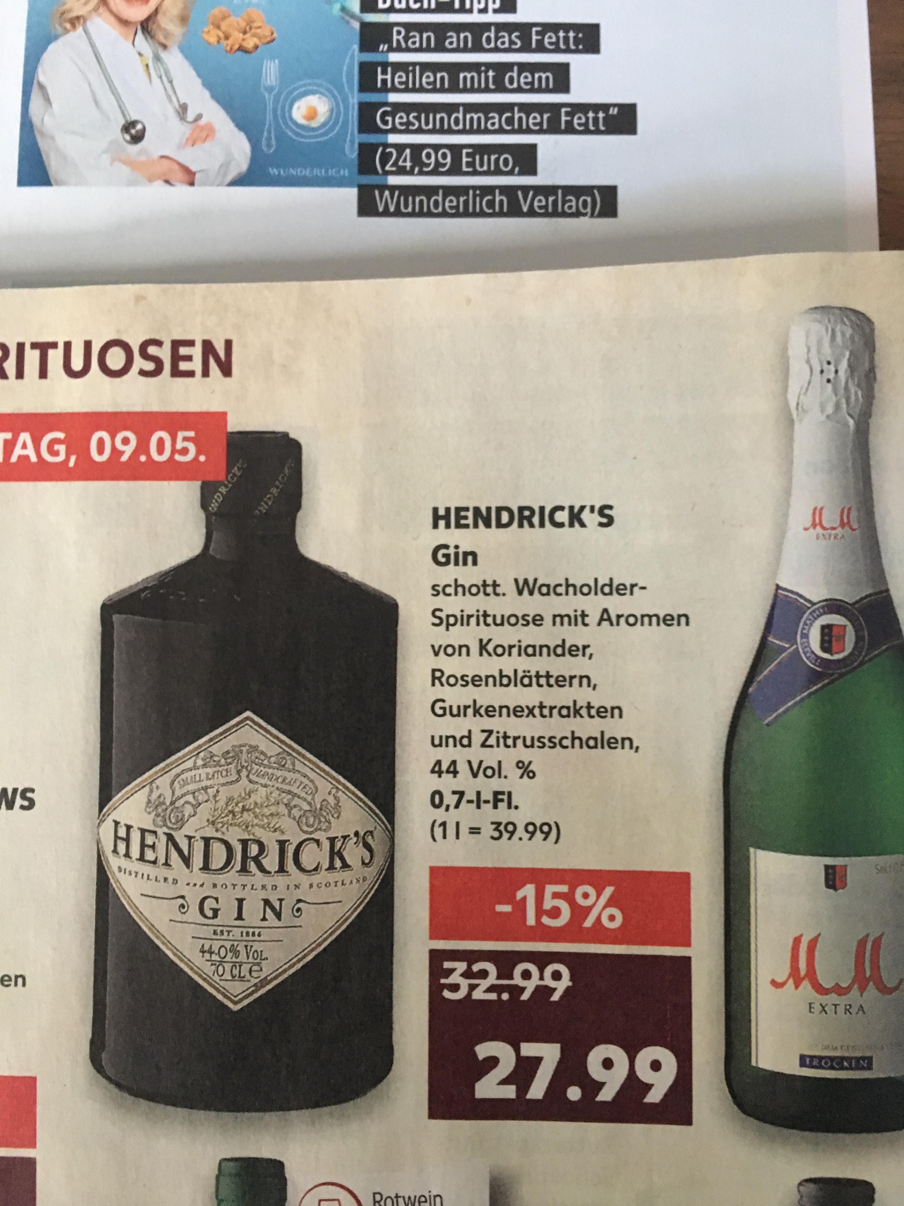 Hendrick's Gin bei Kaufland